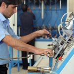 نمایی از خط تولید و فضای شرکت تولیدی صنعتی سازه ترمز